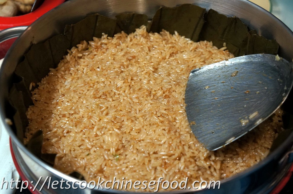 how to cook glutinous rice in microwave