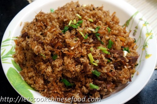 Chinese Recipe : Stir-fried Glutinous Rice with Preserved ...