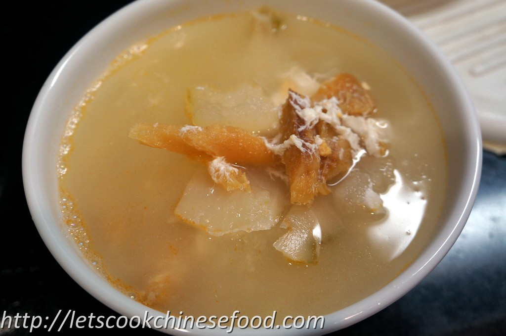 ... Recipe : Winter Melon with Dried Stockfish and Preserved Turnip Soup