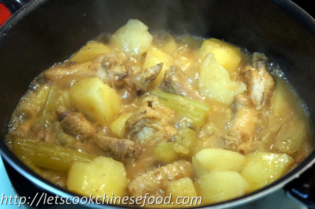 Chinese Recipe : Stewed Chicken Wing with Potato and Onion (食譜 ...